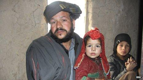 Taj Mohammad with two of his other children
