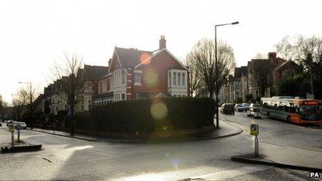 Ninian Road, Roath, Cardiff, and behind it, Shirley Road