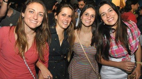 Daniella Brasil (3rd from left) and her friends on a night out