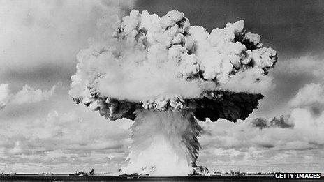 Atomic bomb blast
