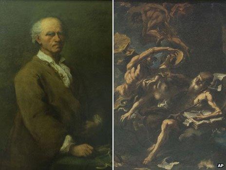 Portrait of Bartolomeo Ferracina by Pietro Longhi and The Temptation of St Anthony by Sebastiano Ricci