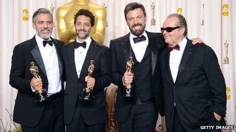 George Clooney, Grant Heslov, Ben Affleck, Jack Nicholson