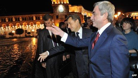 Presidents Serzh Sarkisyan and Nicolas Sarkozy (2011)