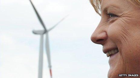 Wind farm, Angela Merkel
