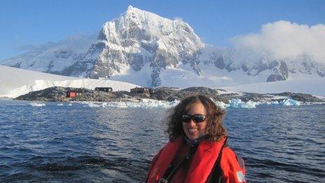 Kath Leavy from Neath in Antarctica