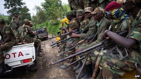 Rebels in eastern DR Congo on 30 November 2012