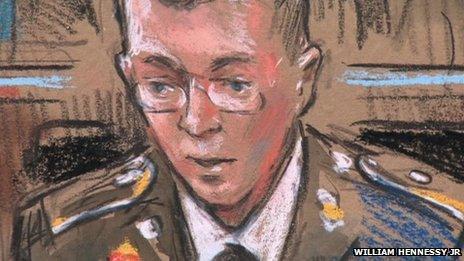 Bradley Manning court sketch 28 February 2013