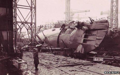 Seized photo of German shipyard