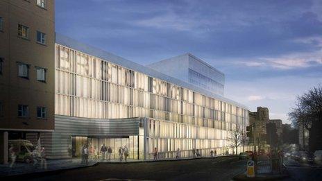 Madrid architects Nieto Sobejano design involves re-cladding the building and creating a small open garden.