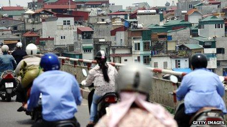 Motorcyclists in Vietnam