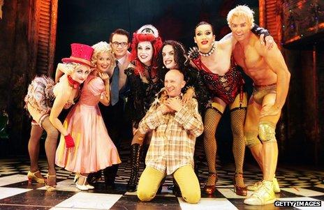 Rocky Horror Show cast with Richard O'Brien