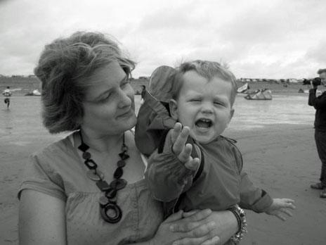 Lucy Herd with her son Jack