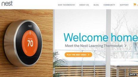 Nest webpage
