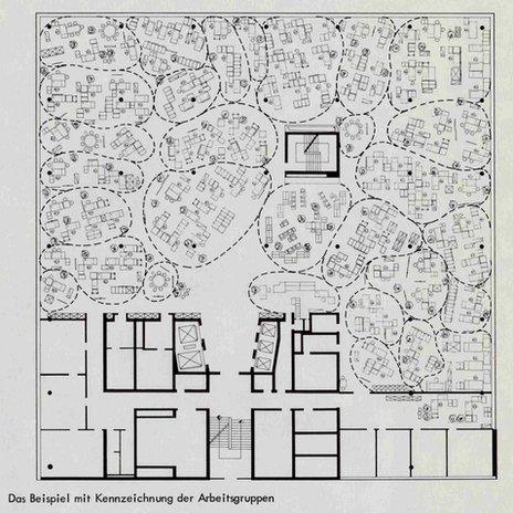 The plan for Osram, 1965