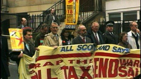 The Poll Tax led to protests and non-payment