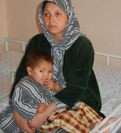 Fatima and baby