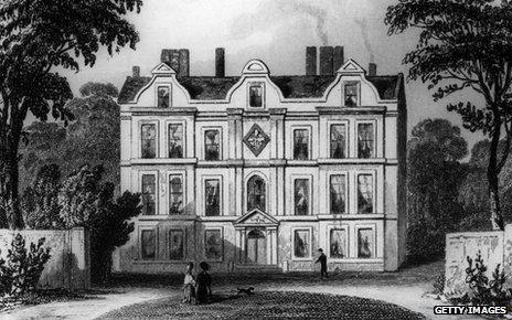 Old Kew Palace in c. 1750