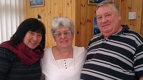 Maxine, Carol and David