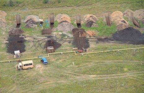 Mines in Ukraine