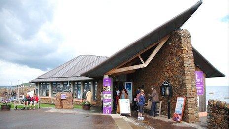 The exterior of the Scottish Seabird Centre