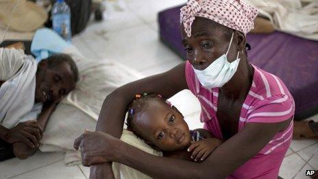 Cholera victims in Haiti