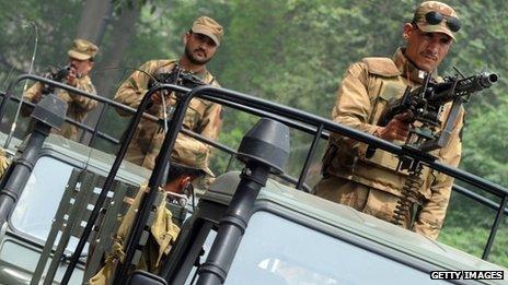Pakistani army soldiers