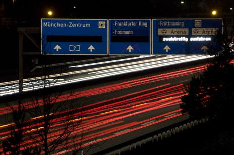 Autobahn by night