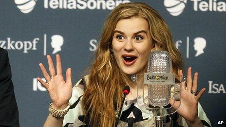 Emmelie de Forest Eurovision press conference