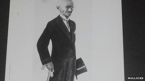 Gandhi in a suit