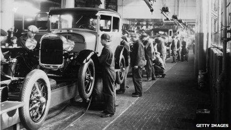 Ford production line 1928