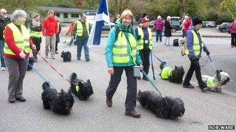 Skye Terriers gather for walk to Armadale