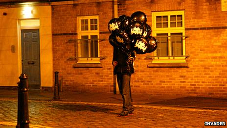 Space Invader baloons in London