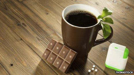 Coffee, chocolate and sweeteners