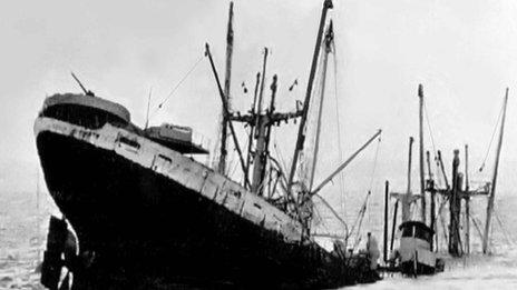 The last moments of the SS Richard Montgomery