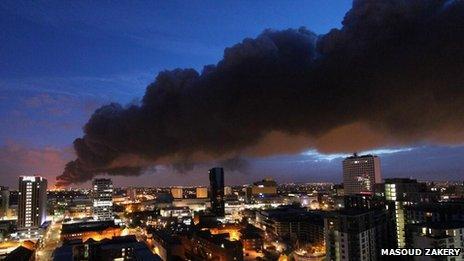 Smoke seen across Birmingham