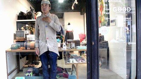 Nathan Jiang in his store Brandnu