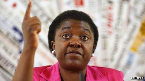 Italian integration minister Cecile Kyenge (file photo 19 June)