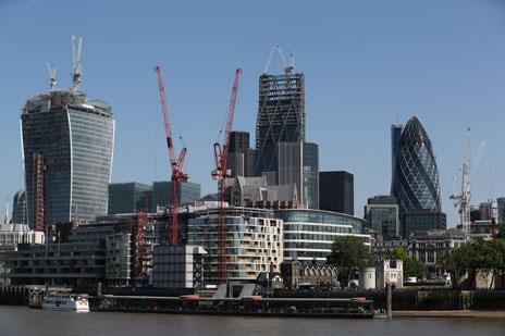 London skyline, July 2013