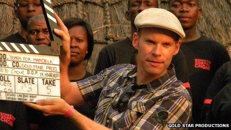 Jason Bourque directing Music for Mandela