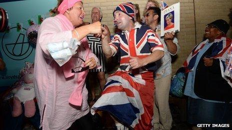 Celebrations among royal fans