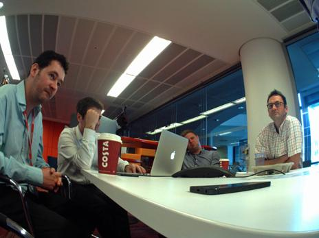 Team meeting at the BBC technology unit