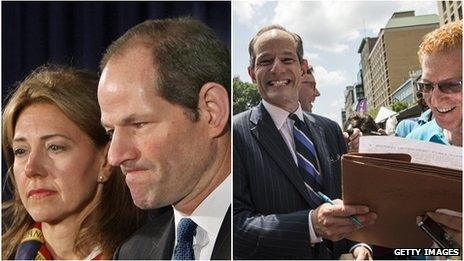Eliot and Silda Spitzer; Spitzer and New York City resident