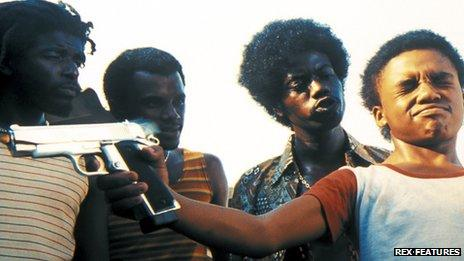 Scene from the film City of God, Leandro Firmino can be seen second from right