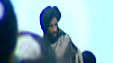 Mullah Mohammed Omar seen in video grab from 2001