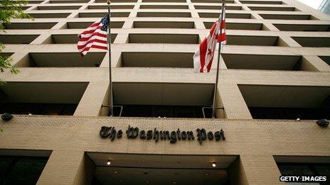 The Washington Post building in downtown Washington DC
