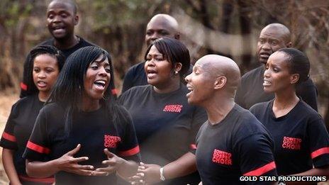 Soweto Gospel Choir sing in Music for Mandela