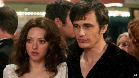 Amanda Seyfried and James Franco in Lovelace