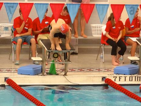 Swimmers in competition at the World Dwarf Games