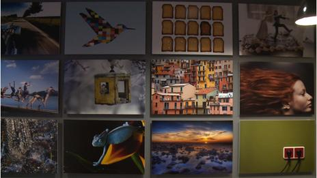 Shutterstock photo wall