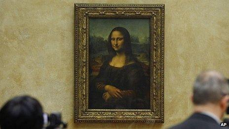 Mona Lisa at the Louvre, Paris (file image